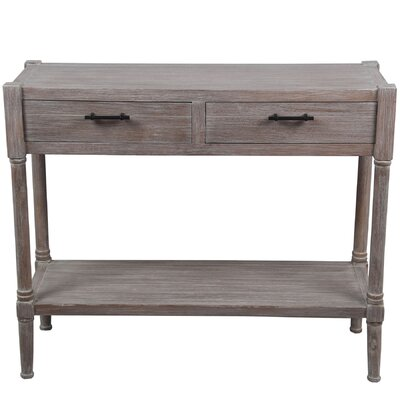 Diawara 2 Drawer Console Table Color: Natural