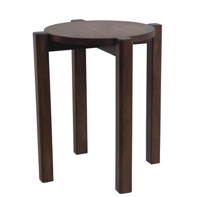 Benally Stackable Accent Stool Finish: Brown