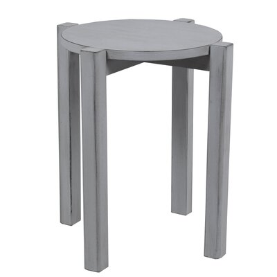 Benally Stackable Accent Stool Finish: Light Gray
