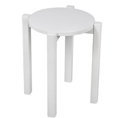 Benally Stackable Accent Stool Finish: White