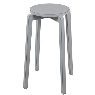 Benavides Stackable Accent Stool Finish: Light Gray