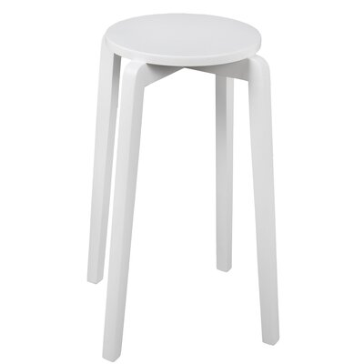 Benavides Stackable Accent Stool Finish: White