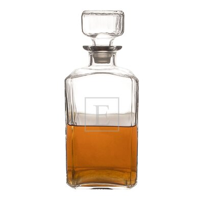 Personalized Glass 34 Oz. Decanter Letter: E
