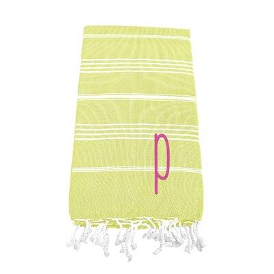 Dahle Turkish Cotton Beach Towel Letter: P