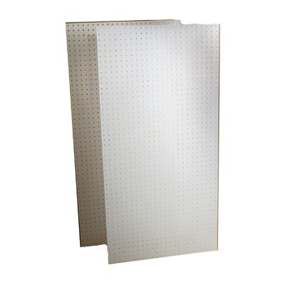 Triton Products DuraBoard (2) 24 In. W x 48 In. H x 1/4 In. D White Polypropylene Pegboards with 9/32 In. Hole Size and 1 In. O.C. Hole Spacing
