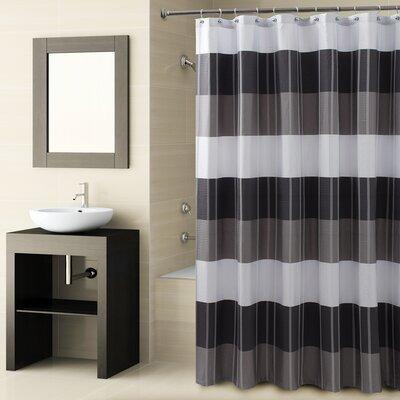Fairfax Shower Curtain Color: Black