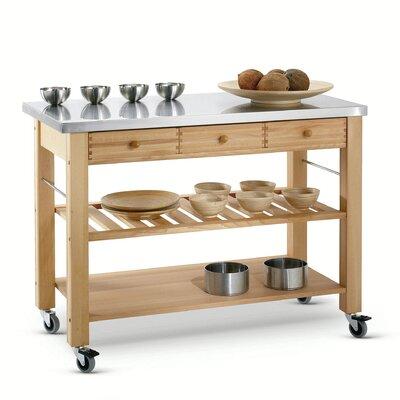 Eddingtons Lambourn Kitchen Cart with Stainless Steel Top