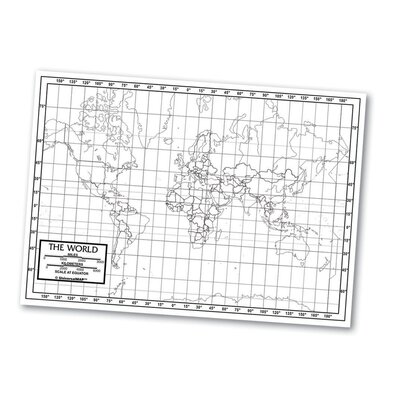 Universal Map Outline Map - World
