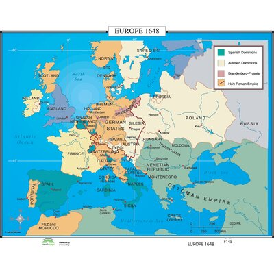 Universal Map World History Wall Maps - Europe 1648