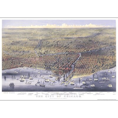 Universal Map Chicago 1874 Historical Map