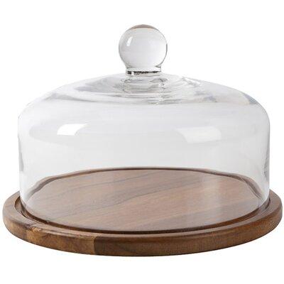 Ethos Bistro & CO Kainuu Glass Domed Acacia Serving Board