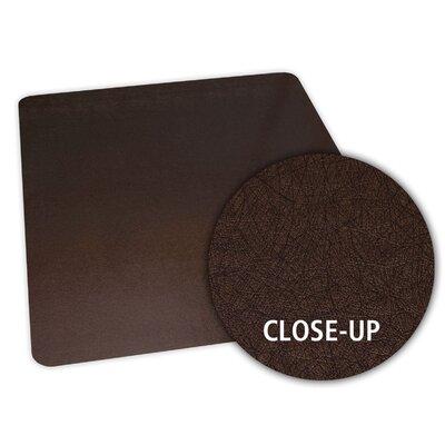 """Bronze Design Chair Mat Size: 36"""" x 48"""" Rectangular, Straight .130, Carpet"""