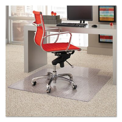 """High Pile Carpet Beveled Edge Chair Mat Lip: Not Included, Size: 0.375"""" H x 36"""" W x 49"""" D"""