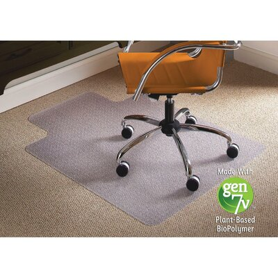 "Natural Origins Low Pile Carpet Straight Edge Chair Mat Size: 45"" W x 53"" D"