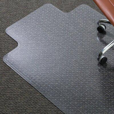 "AnchorBar Medium Pile Carpet Beveled Edge Chair Mat Size: 48"" W x 36"" D"