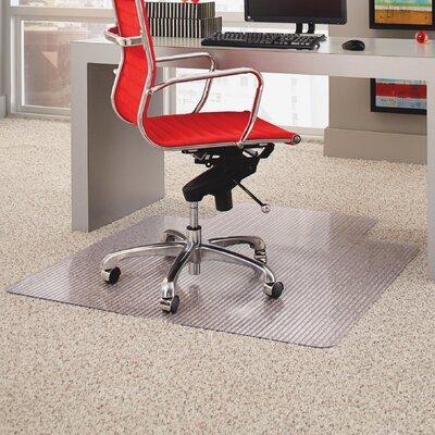 """Lipped Linear Medium Pile Carpet Straight Edge Chair Mat Size: 36"""" W x 48"""" D"""