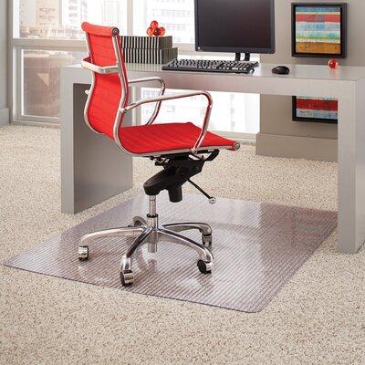 "Linear Rectangular Medium Pile Carpet Straight Edge Chair Mat Size: 45"" W x 53"" D"
