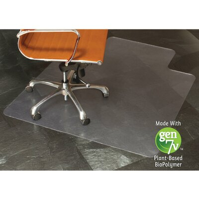 """Natural Origins Hard Floor Straight Edge Chair Mat Size: 0.9"""" H x 36"""" W x 48"""" D, Lip: Included"""