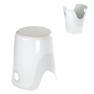 Wendy Bathroom Stool Color: White / White
