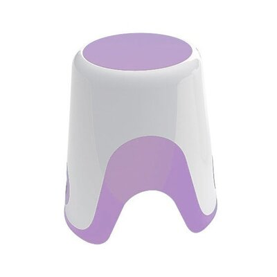 Wendy Bathroom Stool Color: White / Lilac