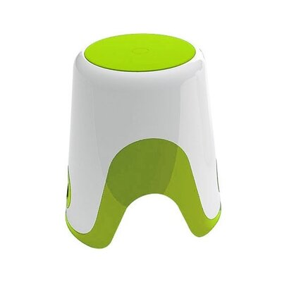 Wendy Bathroom Stool Color: White / Green