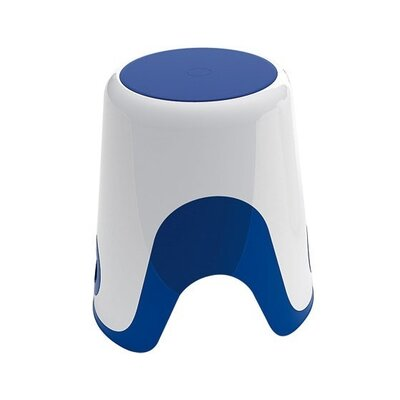 Wendy Bathroom Stool Color: White / Blue