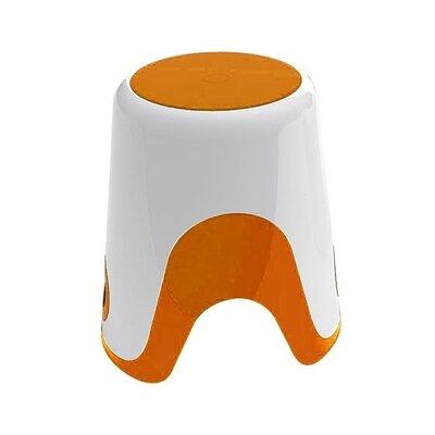 Wendy Bathroom Stool Color: White / Orange