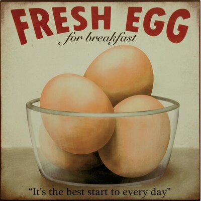 Alterton Furniture Fresh Egg Graphic Art Plaque