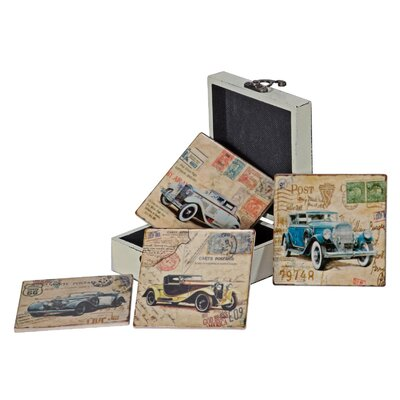 Alterton Furniture Vintage Cars 7-Piece Coaster Set