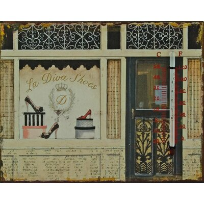 Alterton Furniture Too Hot to Shop Wall Graphic Art and Thermometer