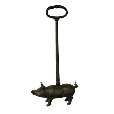 Alterton Furniture Pig Cast Iron Floor Fixed Door Stop