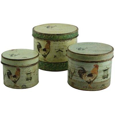 Alterton Furniture Cockerel 3-Piece Storage Tin Set