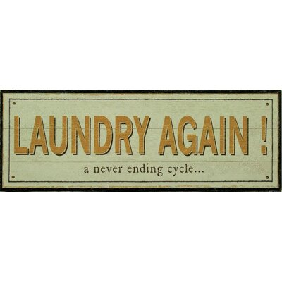 Alterton Furniture Laundry Again! Wall Art Plaque