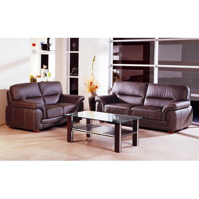 Leather Configurable Living Room Set
