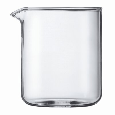 Spare Glass 4 Cup Plastic French Press Shatterproof Replacement Beaker
