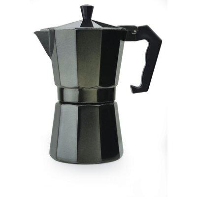 Stove Top Aluminum 6-Cup Espresso Maker Color: Black