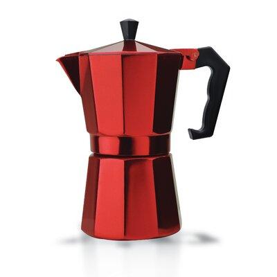 Stove Top Aluminum 6-Cup Espresso Maker Color: Red