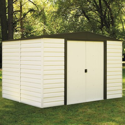 Dallas 10 ft. 3 in. W x 7 ft. 11 in. D Metal Storage Shed
