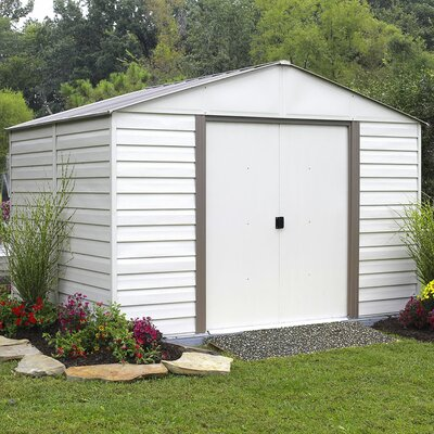 Milford 10 ft. 3 in. W x 12 ft. 2 in. D Metal Storage Shed