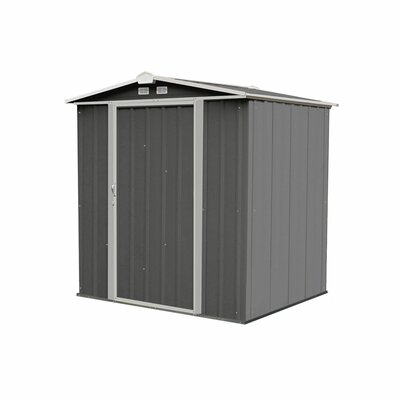 EZEE 6 ft. W x 5 ft. D Metal Tool Shed Siding Color: Charcoal/Cream