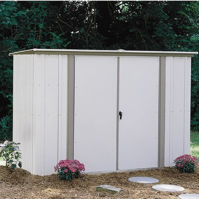 8 ft. 3 in. W x 3 ft. 3 in. D Metal Storage Shed