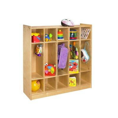 A&E Wood Designs Cubbie 1 Tier 5-Section Bay Coat Locker
