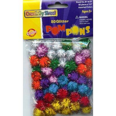 Chenille Kraft Company Glitter Pom Poms Bag Of 80