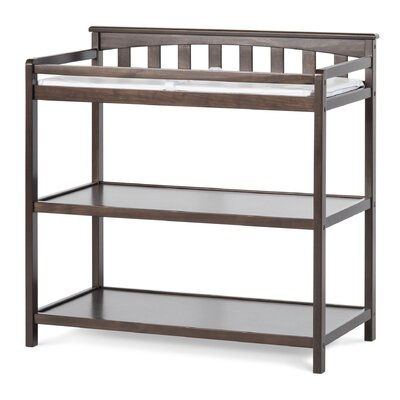 Flat Top Changing Table Color: Slate