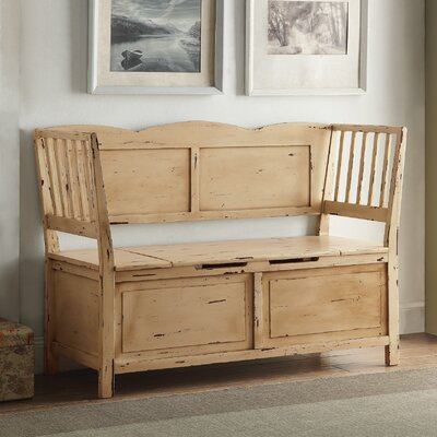 Colonial Wood Storage Bench