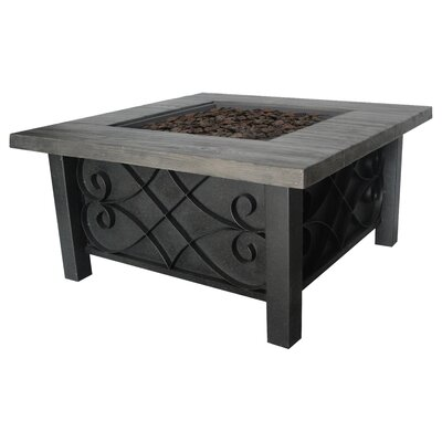 Marbella Stainless Steel Propane Fire Pit Table