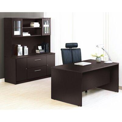 Pro X 4 Piece Desk Office Suite Color: Espresso