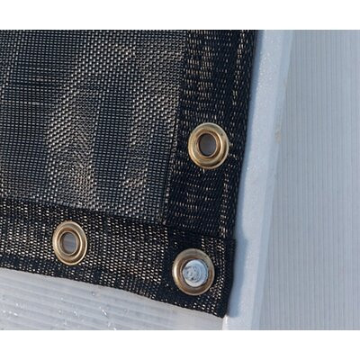 Black Shade Cloth Size: 12' W x 16' H