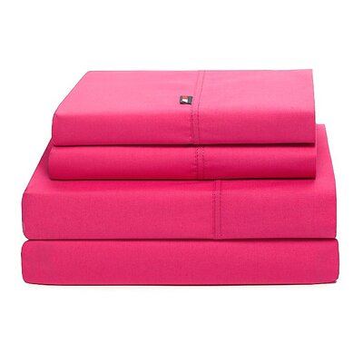 Signature 200 Thread Count Sheet Set Size: Queen, Color: Berry Rose
