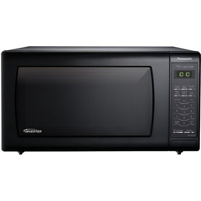 """22"""" 1.6 cu.ft. Countertop/Built-In Microwave with Genius Sensor and Inverter Technology Color: Black"""
